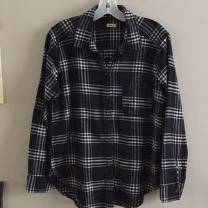 Hollister Flannel Plaid Shirt L